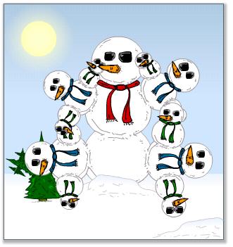 fractal snowman