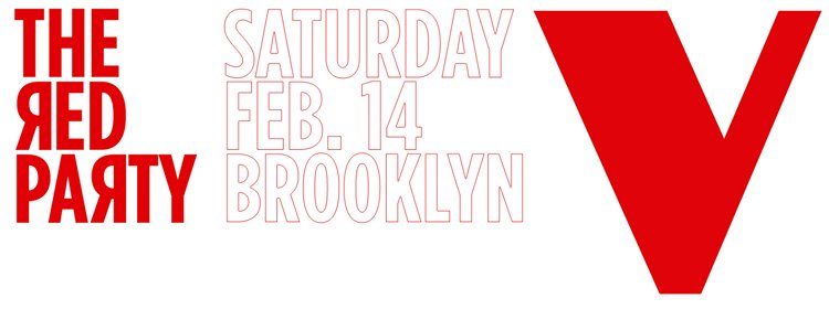 RED PARTY – FEB 14 – NYC
