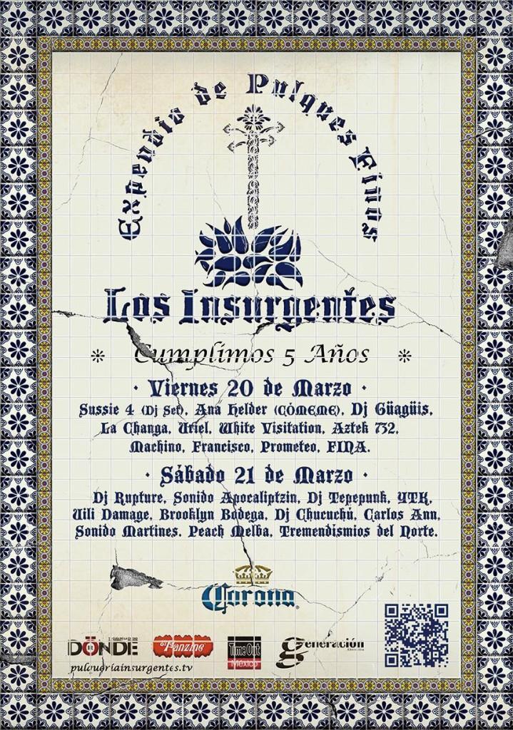 Pulqueria Insurgentes 5th anniversary lineup